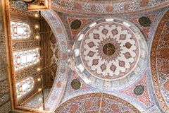 Sultanahmet Blue Mosque in Istanbul, Turkey. ISTANBUL, TURKEY - JULY 29, 2018: Dome of Sultanahmet Blue Mosque in Istanbul City stock photos