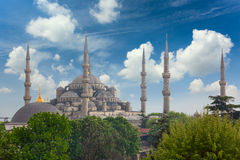 Sultanahmet Blue Mosque in Istanbul, Turkey, Stock Photo