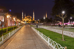 Sultanahmet Blue Mosque at night Stock Photo