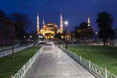 Sultanahmet Blue Mosque at night Royalty Free Stock Photos