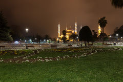 Sultanahmet Blue Mosque at night Stock Image