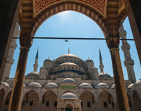 Sultanahmet Cami Blue Mosque. In Istanbul with blue sky on the background stock images