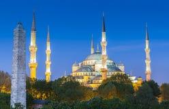 Sultanahmet Camii/蓝色清真寺,伊斯坦布尔,土耳其 免版税图库摄影