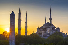 Sultanahmet Camii/蓝色清真寺,伊斯坦布尔,土耳其 库存照片