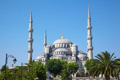 Μπλε μουσουλμανικό τέμενος (Sultanahmet Camii) στη Ιστανμπούλ Στοκ εικόνες με δικαίωμα ελεύθερης χρήσης