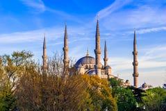 Το μπλε μουσουλμανικό τέμενος, (Sultanahmet Camii), Κωνσταντινούπολη, Τουρκία Στοκ Εικόνα
