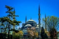 Το μπλε μουσουλμανικό τέμενος, (Sultanahmet Camii), Κωνσταντινούπολη, Τουρκία Στοκ φωτογραφία με δικαίωμα ελεύθερης χρήσης