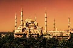 Το μπλε μουσουλμανικό τέμενος (Sultanahmet Camii) στη Ιστανμπούλ Στοκ Φωτογραφίες