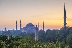 Sultanahmet Camii/moschea blu, Costantinopoli, Turchia Immagini Stock