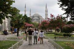Sultanahmet en toeristen Stock Afbeeldingen