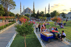 Sultanahmet on evening Royalty Free Stock Photography