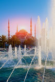 Sultanahmet fontanna i meczet Zdjęcie Stock