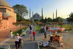 Sultanahmet fyrkant Arkivbilder