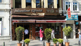 Sultanahmet köftecisi meatballs in istanbul turkey Stock Photo