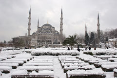 Sultanahmet meczet błękitny meczetowa zima Zdjęcia Stock