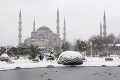 Sultanahmet meczet błękitny meczetowa zima Zdjęcie Royalty Free