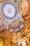 Sultanahmet meczet w Istanbuł, Turcja (Błękitny meczet) Obrazy Royalty Free