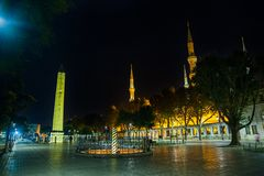 Sultanahmet Meydani by night Royalty Free Stock Photo