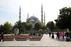 Sultanahmet-Moschee in Istanbul stockfotos