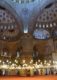 Sultanahmet moské (blå moské). Fotografering för Bildbyråer