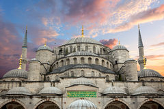 Sultanahmet  Mosque and beautiful sunrise sky Royalty Free Stock Photos