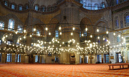 Sultanahmet Mosque (Blue Mosque). Interior of the Sultanahmet Mosque (Blue Mosque) in Istanbul Stock Images