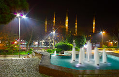 Sultanahmet mosque and fountain Stock Photography
