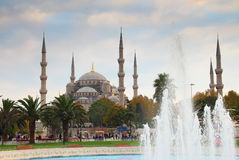 Sultanahmet mosque and fountain in istanbul Stock Photos