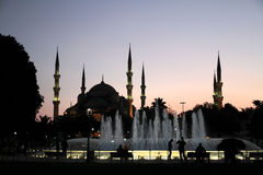 Sultanahmet Mosque and Fountain, Istanbul, Turkey Stock Images