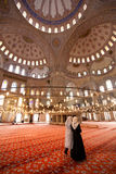 Sultanahmet Mosque Interior. Interior of Sultanahmet Mosque - Istanbul Turkey stock photo