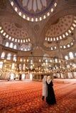 Sultanahmet Mosque Interior Stock Photo