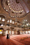 Sultanahmet Mosque Interior. Interior of Sultanahmet Mosque - Istanbul Turkey stock photography