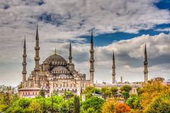 Sultanahmet Mosque, Istanbul. The Sultan Ahmed Mosque (Turkish: Sultan Ahmet Camii) is a historic mosque in Istanbul. The mosque is popularly known as the Blue Stock Photography