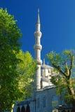 Sultanahmet. Mosque minaret against blue sky Stock Photo