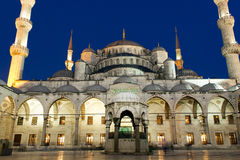 Sultanahmet mosque night Stock Images