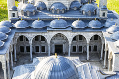 Sultanahmet Mosque. Representative model of Sultanahmet Mosque. Miniaturk is a miniature park situated at the north-eastern shore of Golden Horn in Istanbul Stock Photos