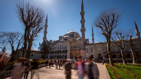 Sultanahmet Mosque Time Lapse stock video footage
