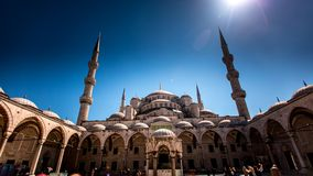 Sultanahmet Mosque stock video footage