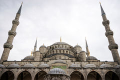 Sultanahmet Mosque. View in Sultanahmet area in Istanbul Royalty Free Stock Image