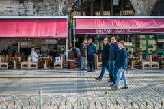 Sultanahmet område i Istanbul, Turkiet Arkivfoto