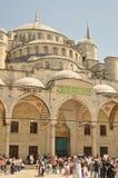 sultanahmet podwórzowi meczetowi turyści Obrazy Royalty Free