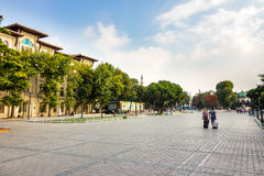 Sultanahmet Square a popular tourists area royalty free stock images