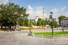 Sultanahmet Square a popular tourists area royalty free stock photos