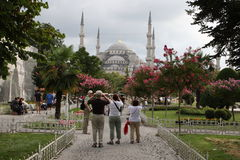 Sultanahmet and tourists. In Istanbul Stock Images