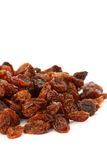 Sultanas B. Photograph of a pile of sultanas isolated on a white background Stock Images