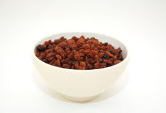 Sultanas in a bowl Stock Photos