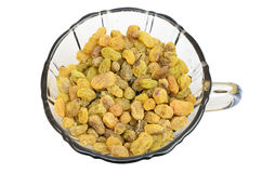 Sultanas in a cup Royalty Free Stock Photography
