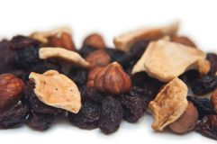 Sultanas, dried fruit and nuts Stock Images