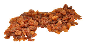 Sultanas Isolated On White Royalty Free Stock Photos