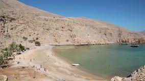 Sultanat von Oman, Musandam-Halbinsel, das Golf von Oman, altes Dorf von Haffa stock footage